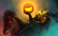 Art-painting-Halloween-horseman-pumpkin-light-horse-burning-eyes_1920x1200