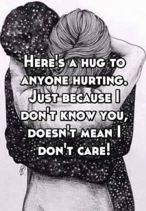 hug for anyone hurting