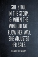 wind did not blow her away adjusted sails